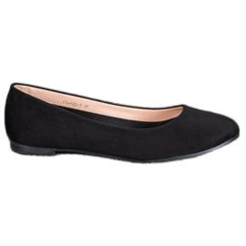 Best Shoes Zamszowe Baleriny czarne