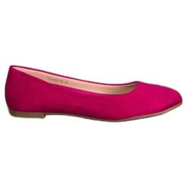 Best Shoes Zamszowe Baleriny fioletowe