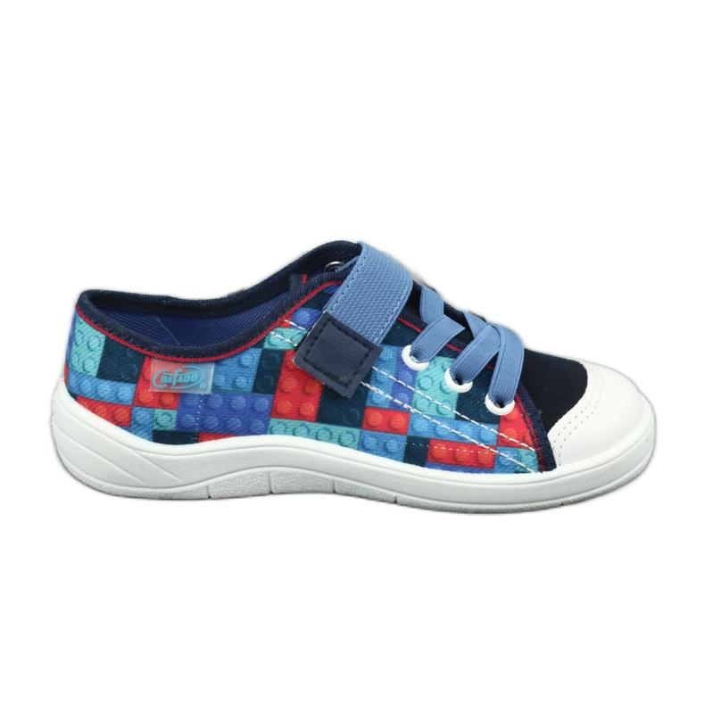 Befado obuwie dziecięce 251X147 niebieskie wielokolorowe