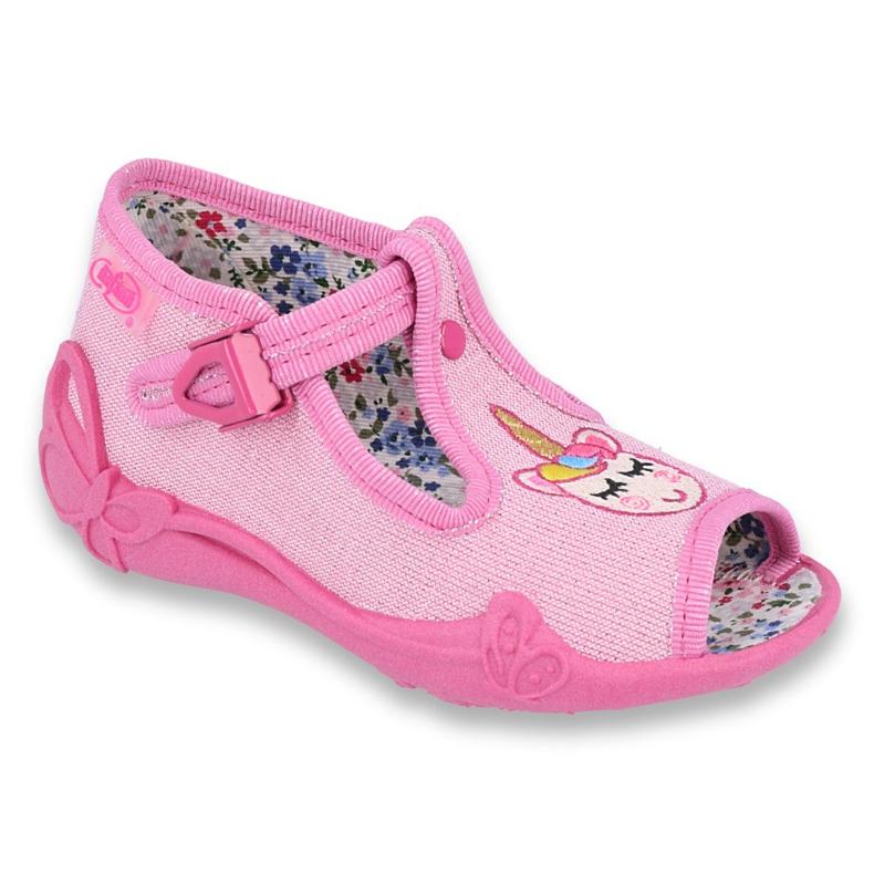 Befado obuwie dziecięce 213P115 różowe