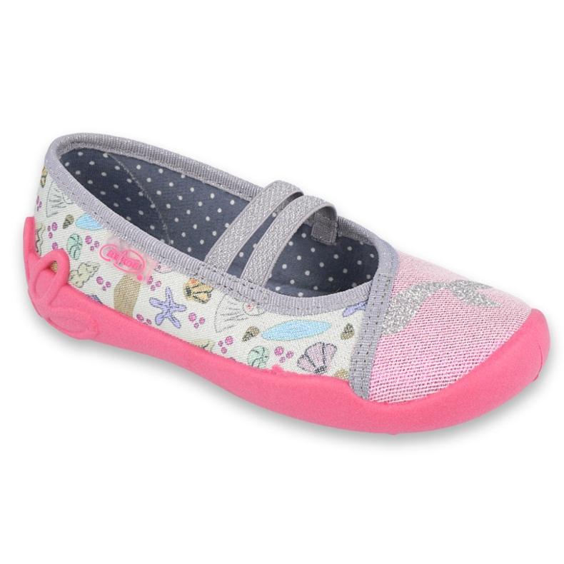 Befado obuwie dziecięce 116X265 różowe szare wielokolorowe