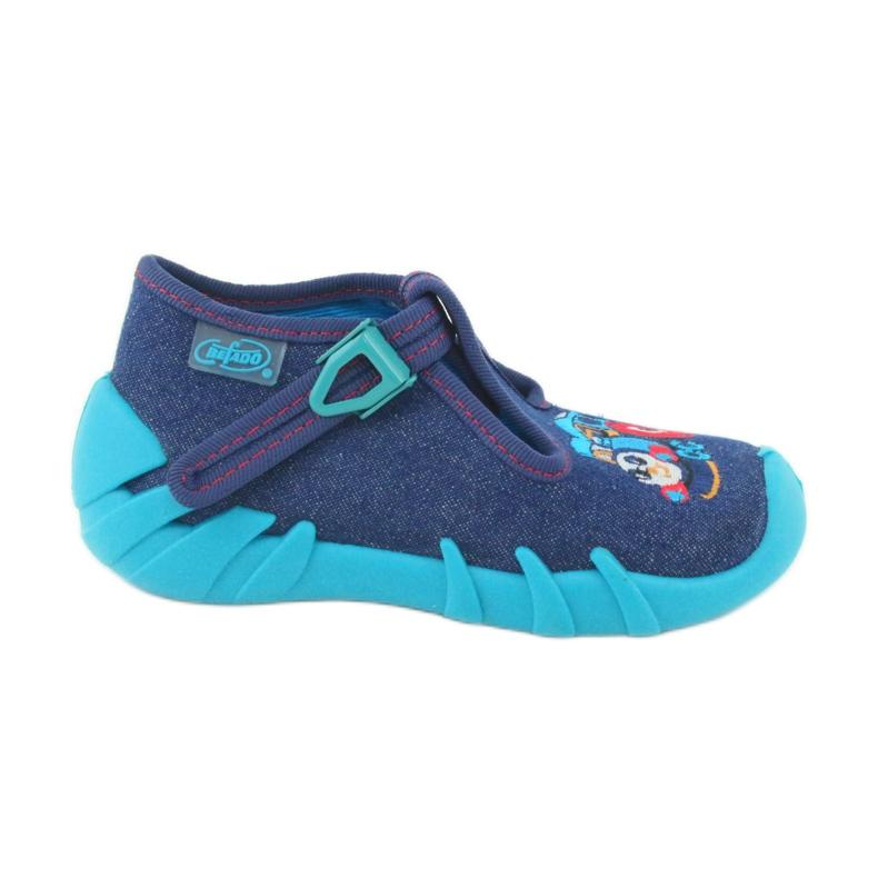 Befado obuwie dziecięce 110P372 granatowe niebieskie wielokolorowe