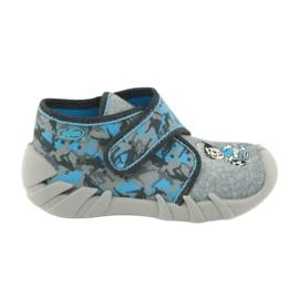 Befado obuwie dziecięce 523P014 niebieskie szare wielokolorowe