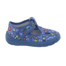 Befado  obuwie dziecięce  533P003 niebieskie wielokolorowe