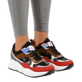 Czarne sneakersy sportowe trampki C9218