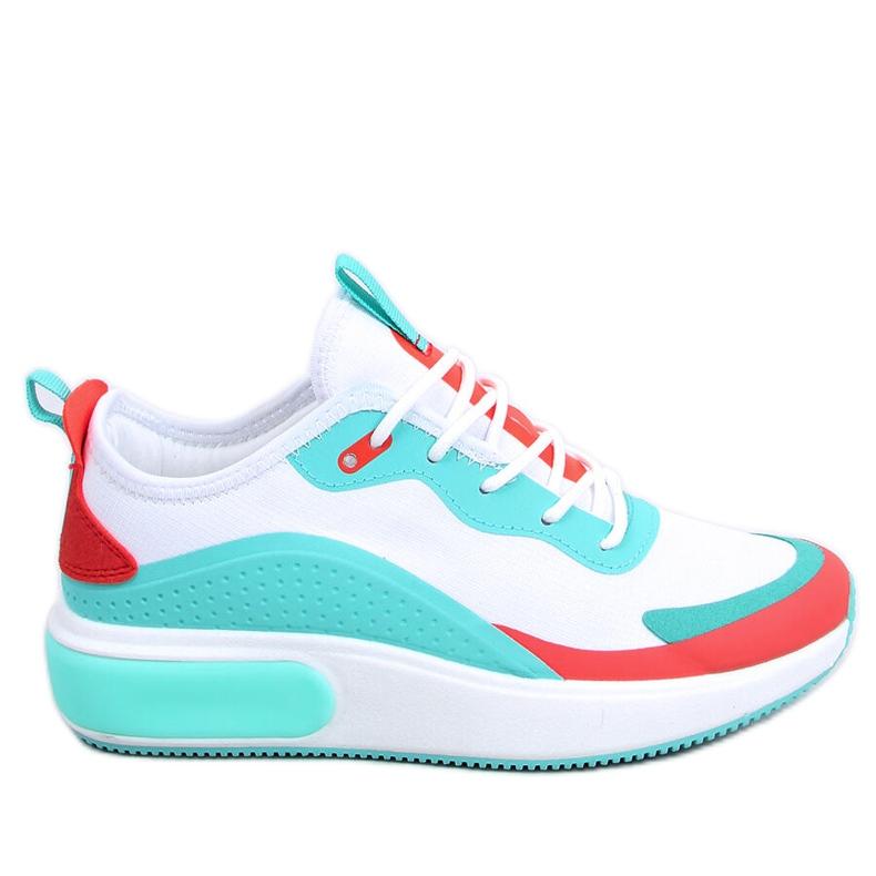 Buty sportowe damskie białe YK106 WHITE/BLUE niebieskie wielokolorowe
