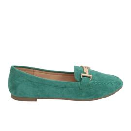 Mokasyny damskie zielone 99-13A Green