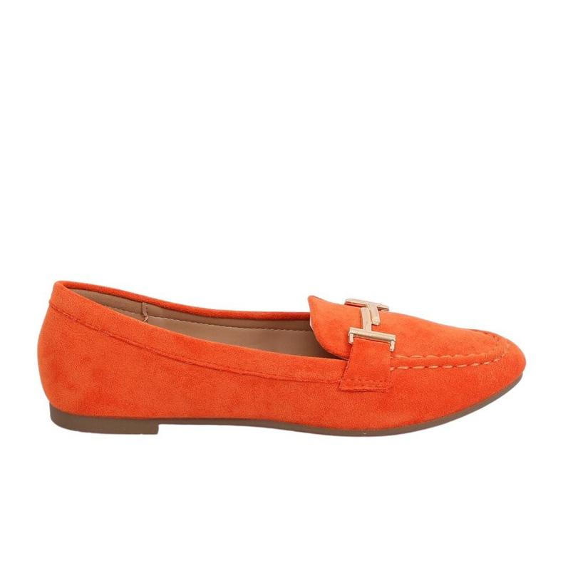 Mokasyny damskie pomarańczowe 99-13A Orange