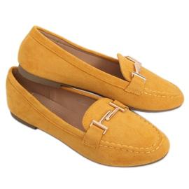 Mokasyny damskie miodowe 99-13A Yellow żółte