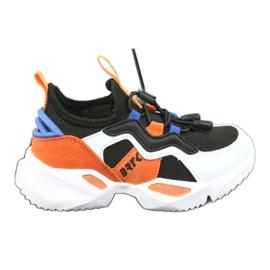 Bartek buty sportowe 78219 białe czarne niebieskie pomarańczowe