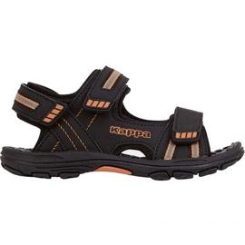 Sandały Kappa Symi T Footwear Jr 260685T 1144 czarne pomarańczowe