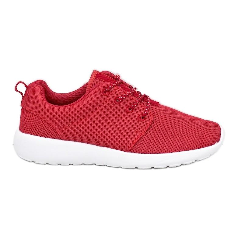 Czerwone obuwie sportowe 9-6836G-12