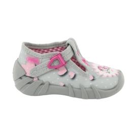 Befado obuwie dziecięce 110P359 różowe szare
