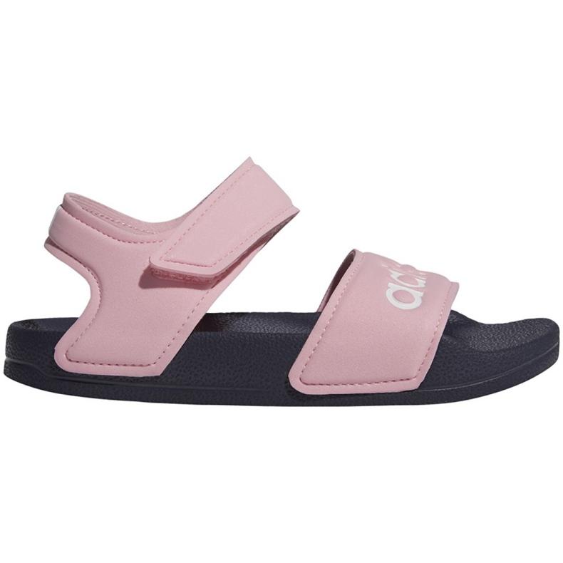 Sandały adidas Adilette Sandal K Jr G26876 różowe