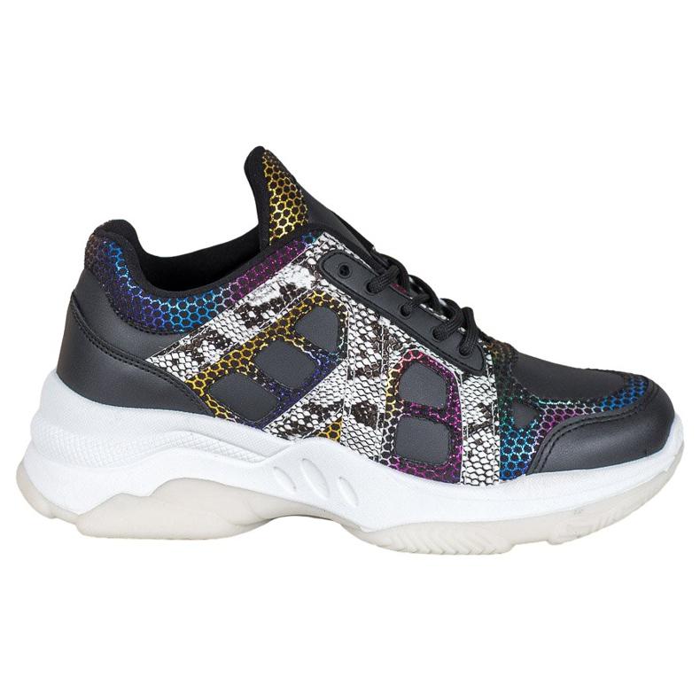 Bona Sneakersy Z Kolorowymi Wstawkami