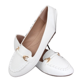 Mokasyny damskie białe A8636 White