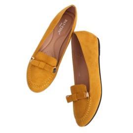 Mokasyny damskie miodowe 2S2018-27 Yellow żółte