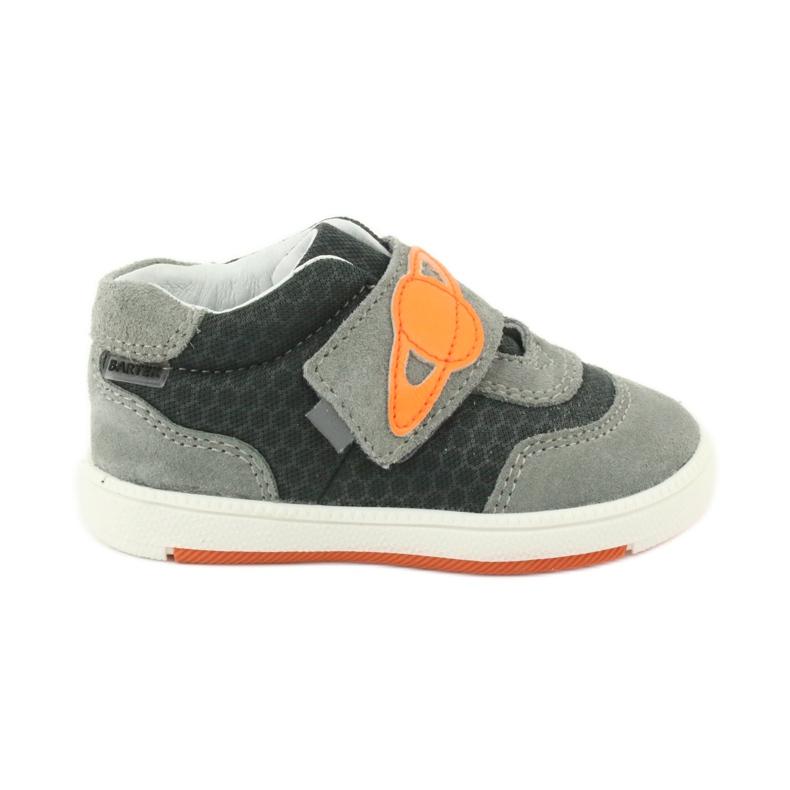 Buty sportowe trampki na rzep Bartek 71141 pomarańczowe szare