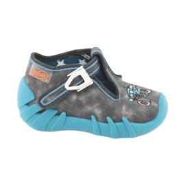 Befado obuwie dziecięce 110P314 niebieskie szare