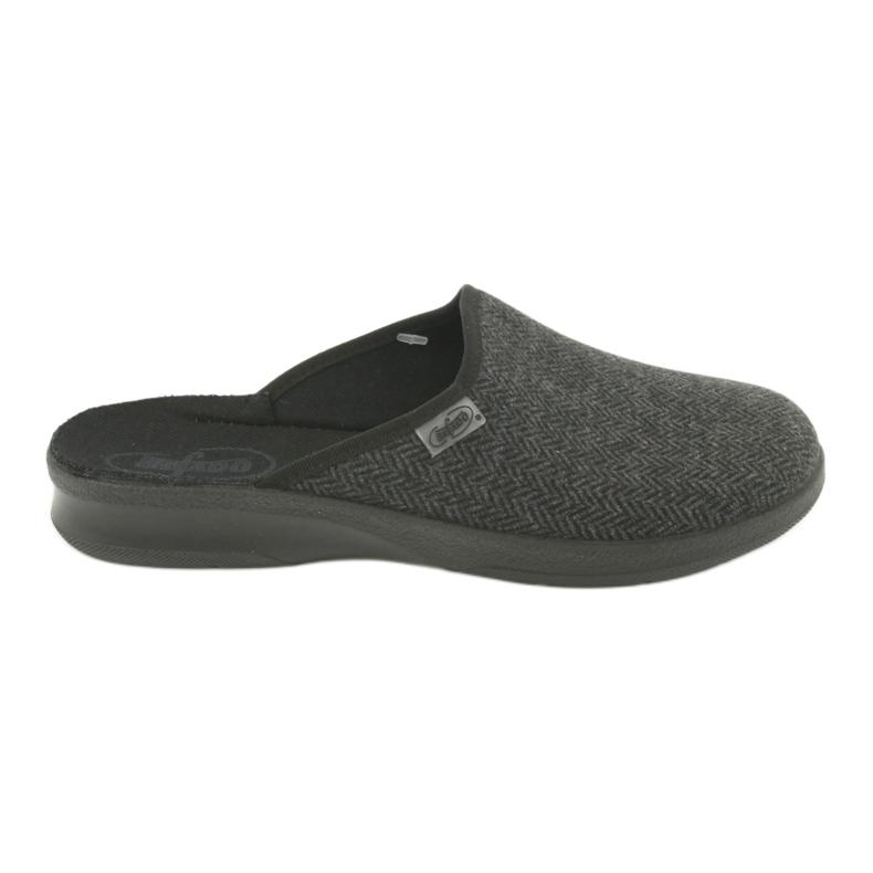 Befado obuwie męskie pu 548M022 czarne szare