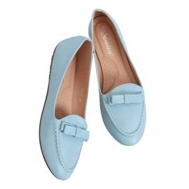 Mokasyny damskie niebieskie A8637 Blue