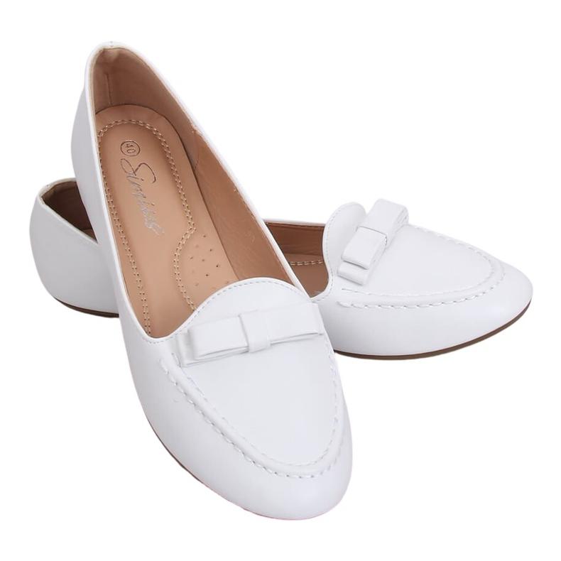 Mokasyny damskie białe A8637 White