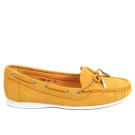 Mokasyny damskie miodowe RQ-1 Yellow żółte