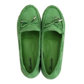 Mokasyny damskie zielone RQ-1 Green