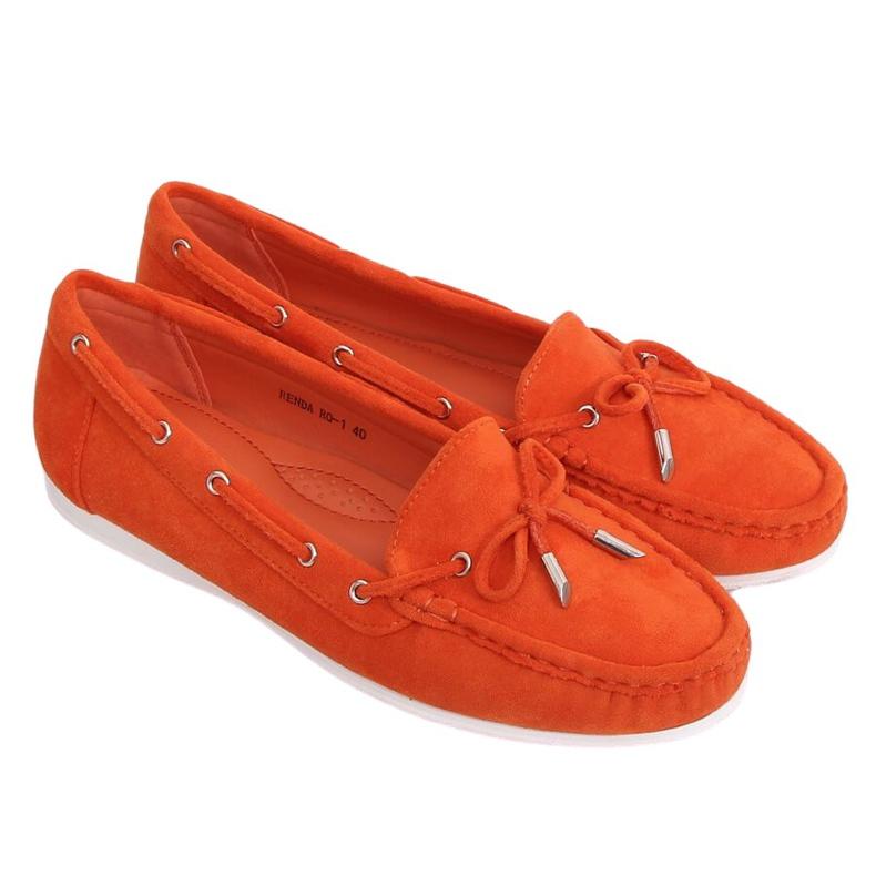 Mokasyny damskie pomarańczowe RQ-1 Orange