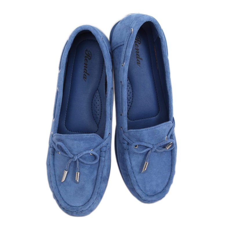 Mokasyny damskie niebieskie RQ-1 Blue