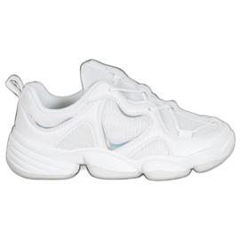 Kylie Stylowe Białe Sneakersy