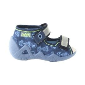 Befado żółte obuwie dziecięce 350P011 granatowe niebieskie szare zielone