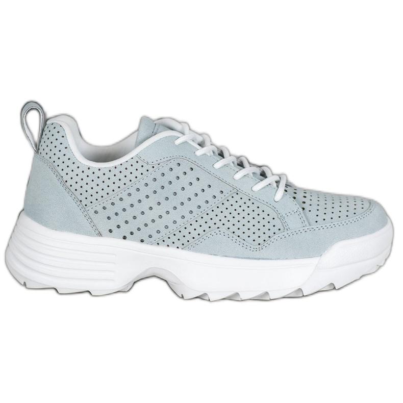 Kylie Lekkie Ażurowe Sneakersy szare