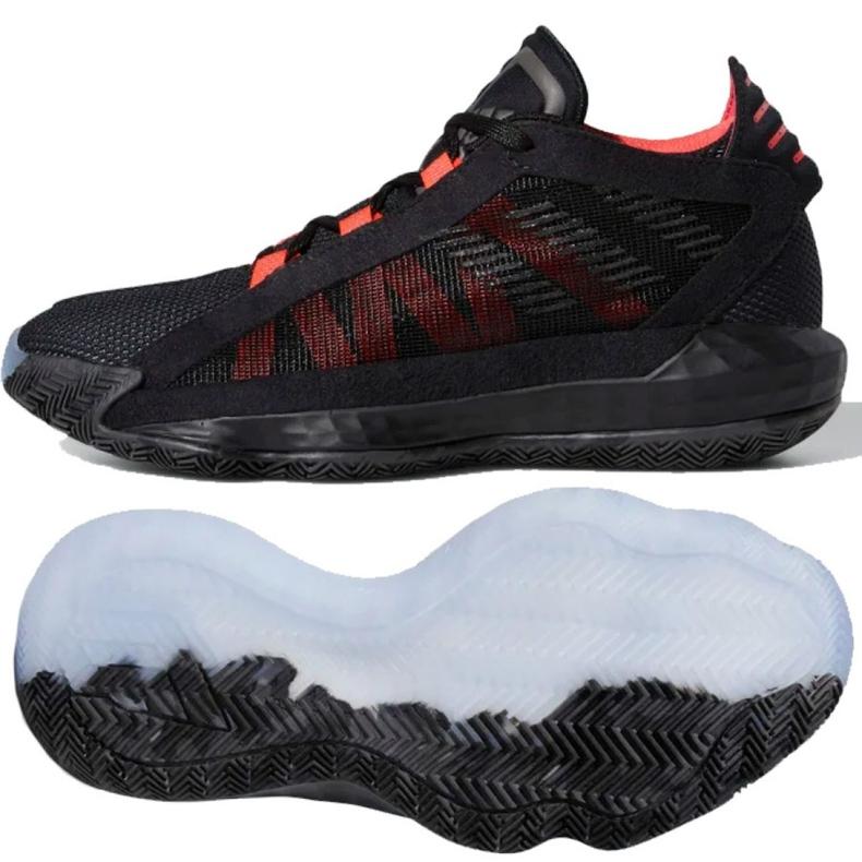 Buty adidas Jr Dame 6 J EH2791 czarne wielokolorowe