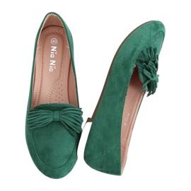Mokasyny damskie zielone 99-72A Green