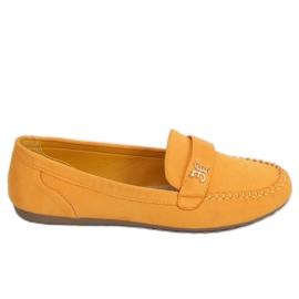 Mokasyny damskie miodowe B2020 Yellow żółte