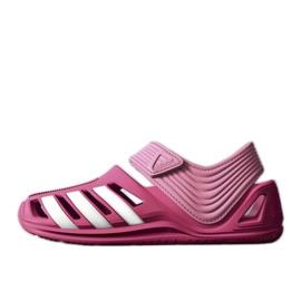 Sandały adidas Zsandal Jr B44457 różowe