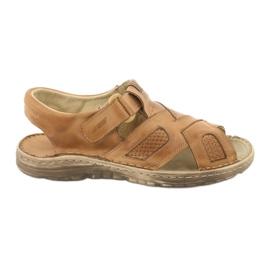 Komfortowe Sandały Skórzane Naszbut 036/A brązowe
