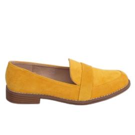 Mokasyny damskie miodowe T366P Yellow żółte