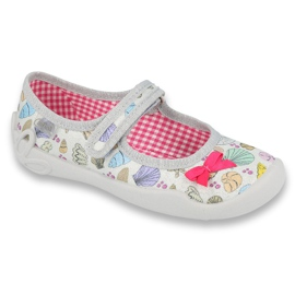 Befado obuwie dziecięce 114X388 szare wielokolorowe