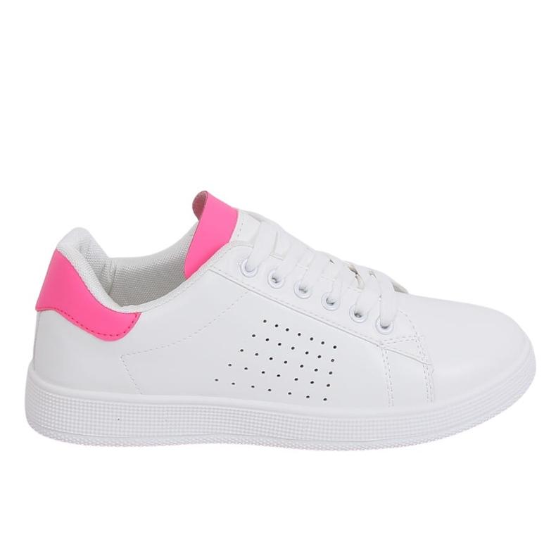 Trampki damskie biało-różowe LV101P Peach
