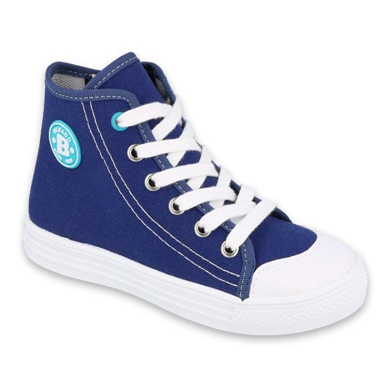 Befado obuwie dziecięce 438X013 niebieskie