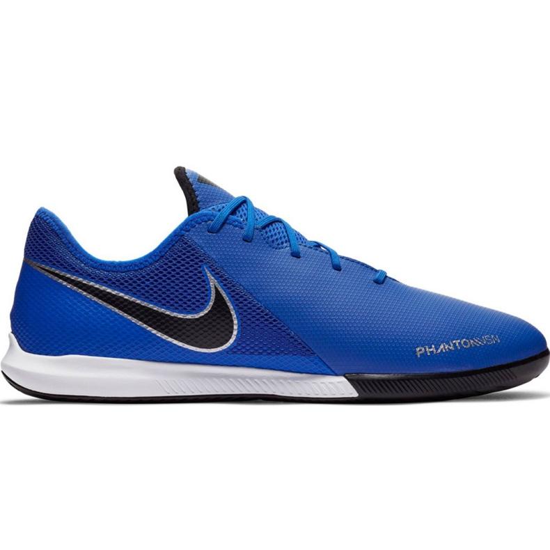 Buty piłkarskie Nike Phantom Vsn Academy Ic AO3225 400 niebieskie granatowe
