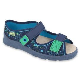 Befado obuwie dziecięce  869Y142 granatowe zielone