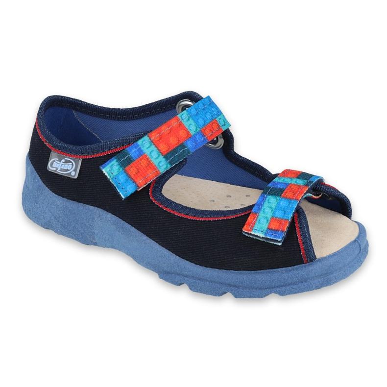 Befado obuwie dziecięce  869X140 czerwone granatowe niebieskie