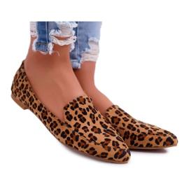 Damskie Mokasyny Lu Boo Leopard Magnus brązowe