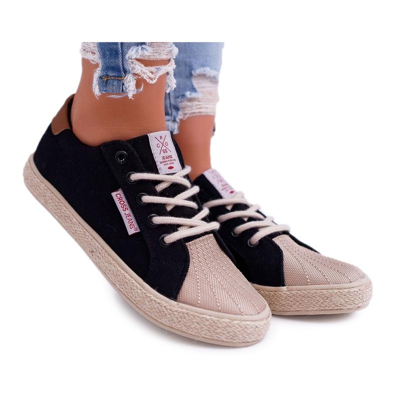 Trampki Damskie Cross Jeans Czarne DD2R4093