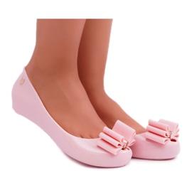 Różowe Damskie Balerinki Meliski Kasha