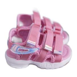FRROCK Dziecięce Sandały Na Rzepy Dla Dziewczynki Różowe Kimmi