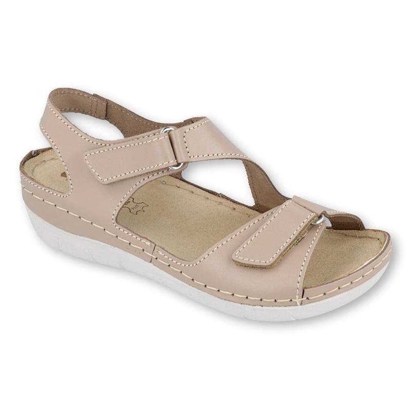 Befado Inblu obuwie damskie sandały 158D114 brązowe